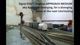 Layout Operating CTC Signal System Demonstration