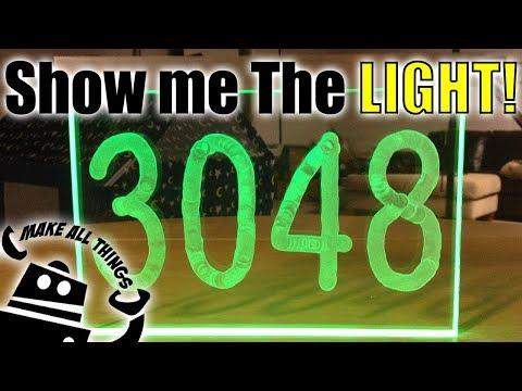 Make LED Light House Number - DIY Build Project