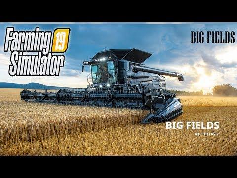 🚜Big Fields - карта с огромными полями! FARMING SIMULATOR 19
