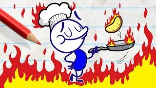 - Pencilmate Can t Flip Pancakes in PANCAKE S LABYRINTH Pencilmation Cartoons for Kids