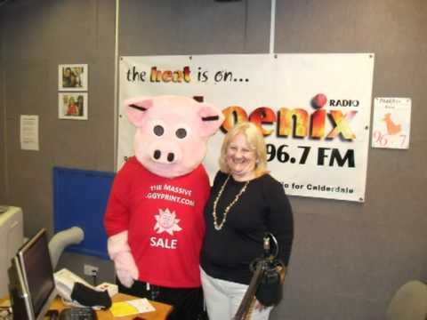 Perry the Pig on Phoenix Radio 96.7 FM (Halifax)