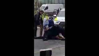 Guy with machine gun being chased and arrested by the Gards in Citywest shopping centre