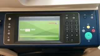 Xerox WorkCentre 7855 Startup / Boot up time.