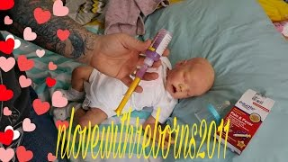 SICK BABY! REAL MEDICINE FOR REBORN BABY DOLL! ULTRA REALISTIC DOLL