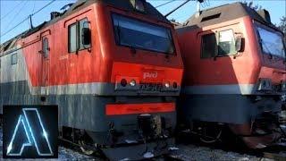 Встречные электровозы в изобилии ВЛ10 ВЛ11 ТЭВ 2ЭС6 ЭП2К ЭС2Г Ласточка локомотив пассажирский поезд