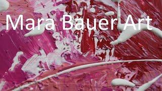 Acrylmalerei - modernes, abstraktes Bild in Spachteltechnik - einfach zu malen - Bild 14 2020 V117