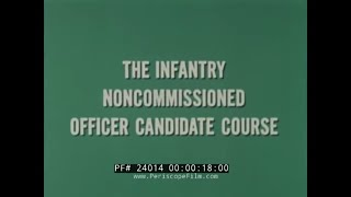 1960s U.S. ARMY INFANTRY NCO NON-COMMISSIONED OFFICER COURSE  FT. BENNING, GA.  24014