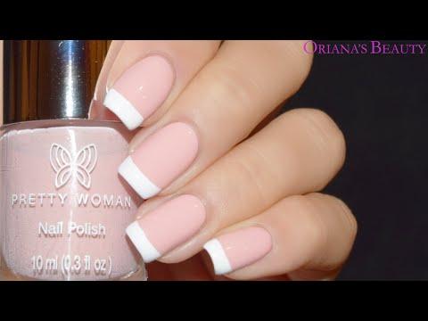Diseño Manicure Francesa Tutorial De Uñas