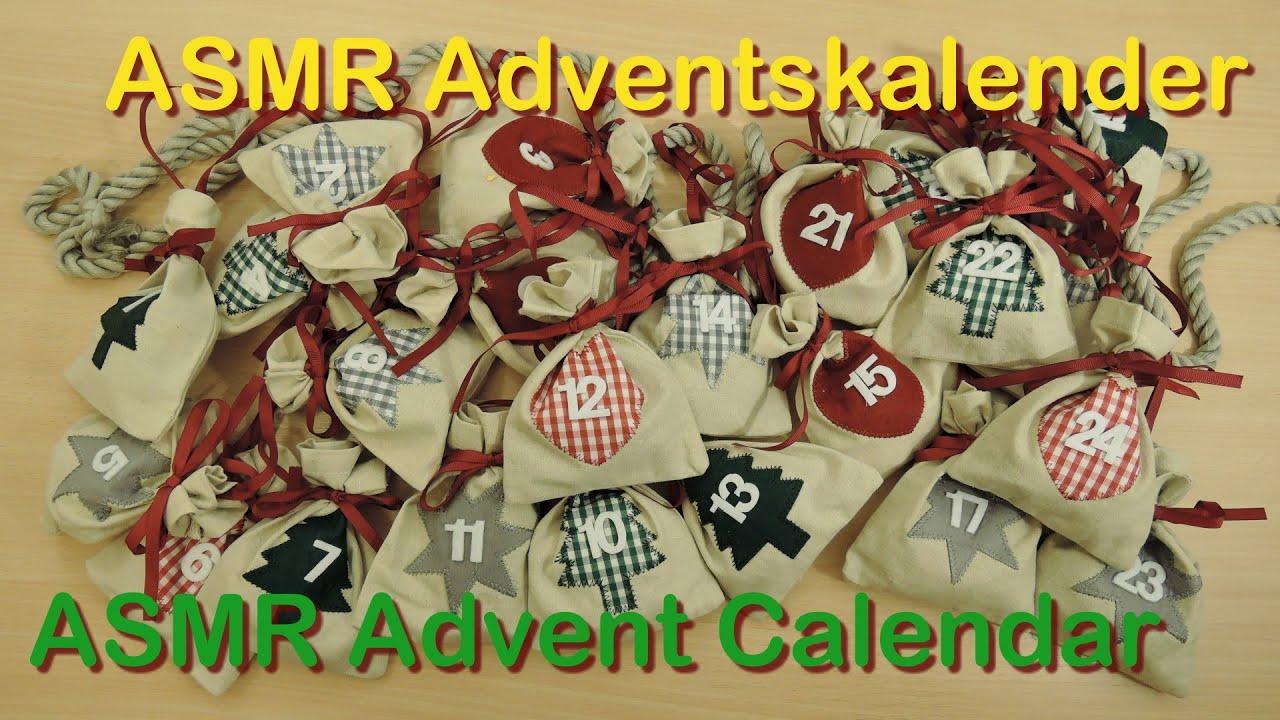 Weihnachtskalender Füllen.Asmr Oma Tana Bilingual Adventskalender Füllen Filling The Advent Calendar Soft Spoken Crinkle