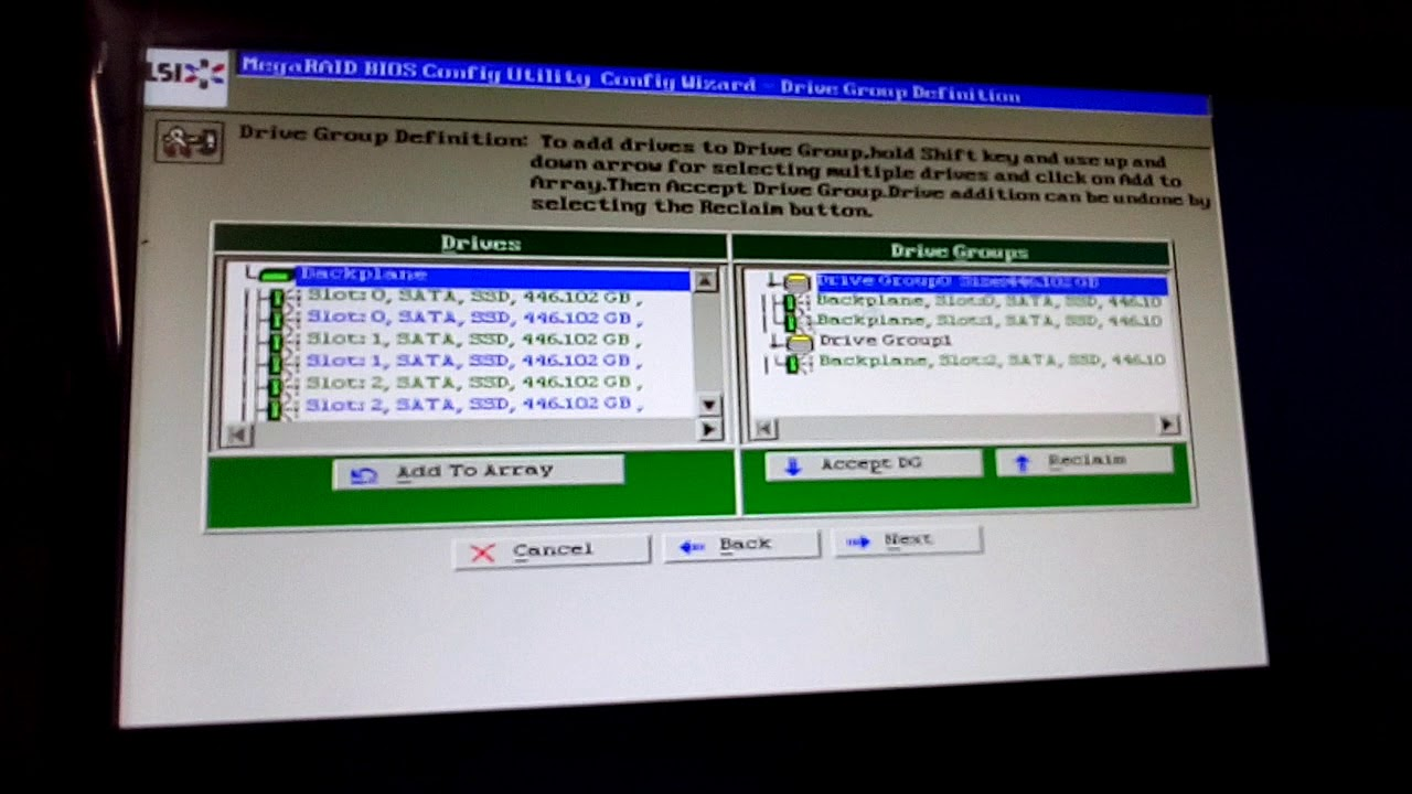 How to configure Raid 10 with 8 hard disk in IBM Server x3850 x5 by AM  Productions