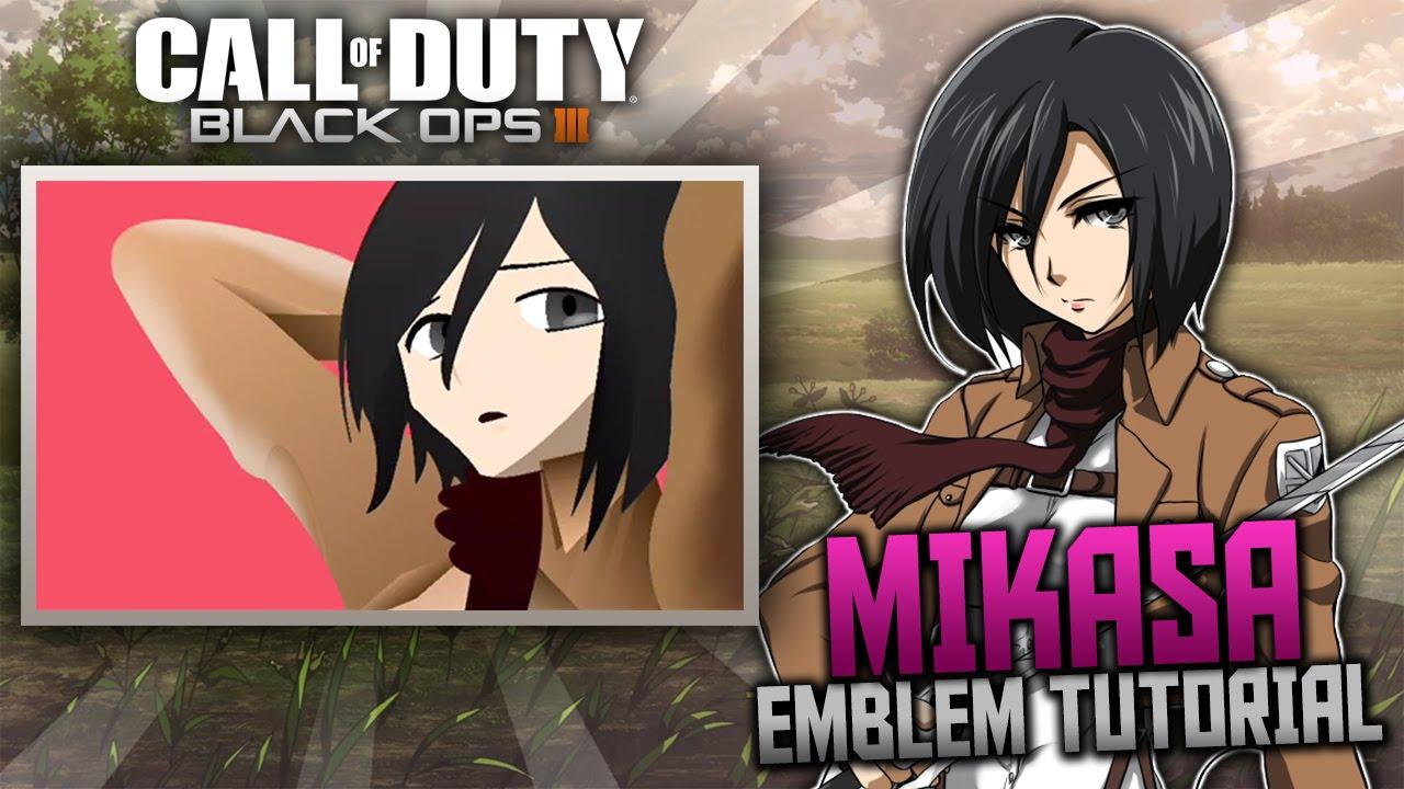black ops 3 mikasa ackerman anime emblem tutorial attack on