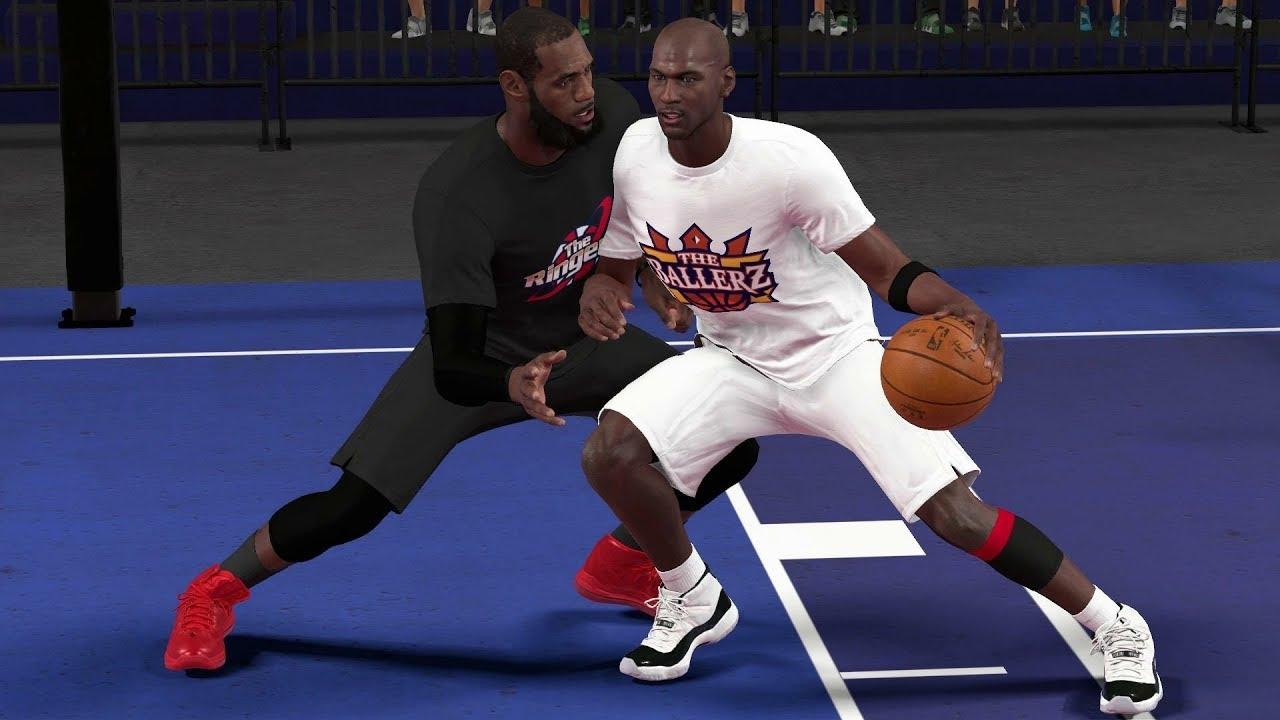 d778ee1e3e8798 NBA 2K19 Blacktop - Michael Jordan vs LeBron James - INTENSE Finish ...