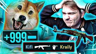 999 HP VS AK-47 FIRE SERPENT W CS:GO / KRAILY VS KIFI