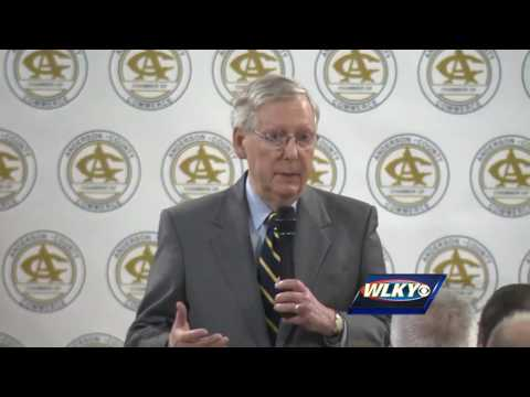 Video: Senate Majority Leader Mitch McConnell speaks in Lawrenceburg