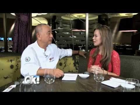 OK! TV's Mayleen Ramey with Chef Nobu Matsuhisa