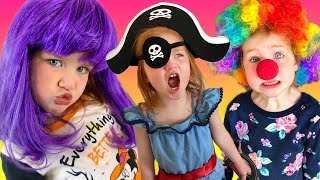 KiDS COSTUME RUNWAY SHOW!! Adley plays a Disney Princess, Pirate, Fairy, and Baby Shark with Niko!
