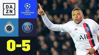 Mbappe nicht zu stoppen! PSG hält weiße Weste: Brügge - PSG 0:5 | UEFA Champions League | DAZN
