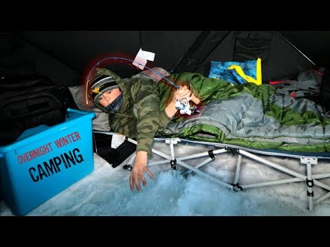 Overnight Winter Camping (FISHING IN BED)