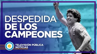 Los campeones del '86 despidieron a Maradona