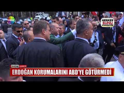 Erdoğan korumalarını ABD'ye götürmedi
