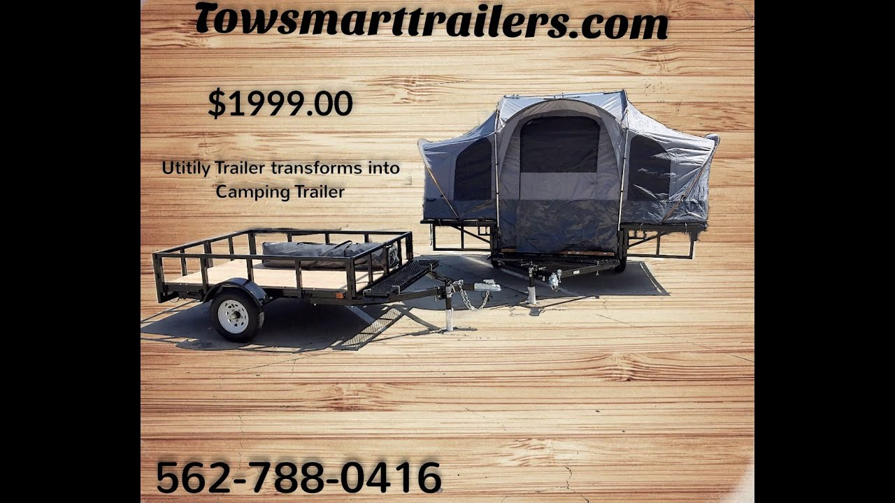 Side By Side Atv >> Camping Trailer and Utility Trailer - YouTube