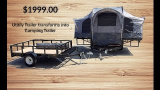 Camping Trailer and Utility Trailer 2 IN 1 COMBO #camping #tent #cozy