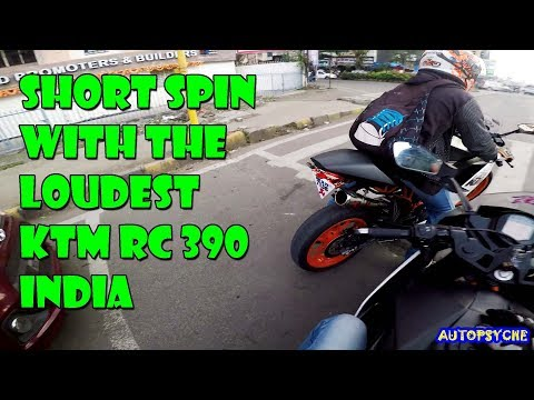 SHORT SPIN WITH THE LOUDEST KTM RC 390 IN INDIA