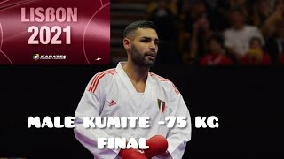 Karate1 Lisbon 2021   Male Kumite -75 kg (FINAL)   Luigi Busa (ITA) vs Asgari Ghoncheh Bahman (IRI)