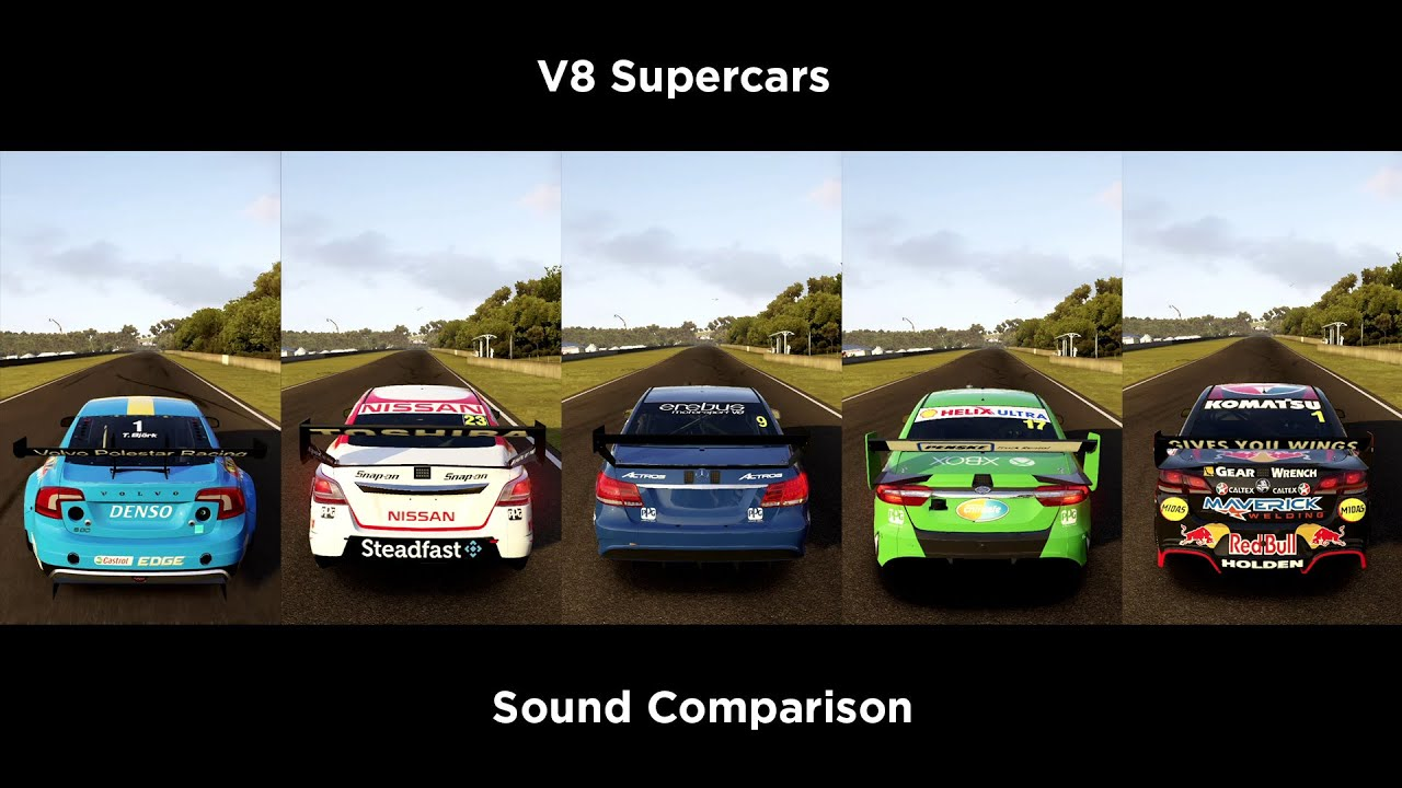 Forza 6 V8 Supercars Sound Update After Patch Youtube