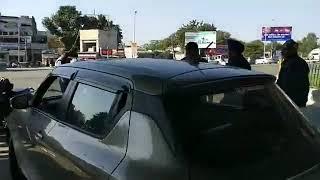 Police crack down on traffic violators at Bikram Chowk Jammu