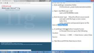 Web Logic Connection Pool Data Source Creation