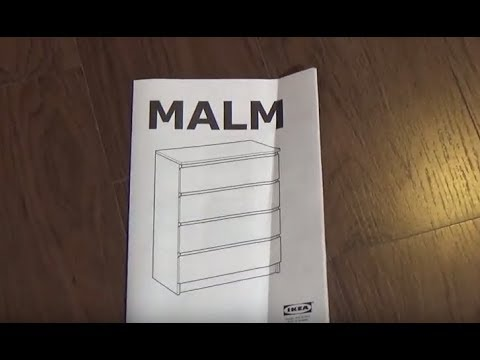 How To Assemble Chest Malm De Ikea De 4 Drawer Video Manual