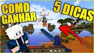 5 DICAS PARA GANHAR O SKYWARS FACILMENTE! (Minecraft)