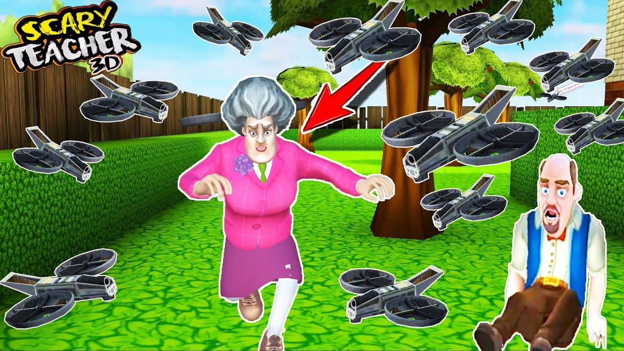 EFSANE DRON KOVALAMA ŞAKASI 🤣 Scary Teacher 3D En Yeni Bölüm