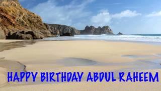 AbdulRaheem   Beaches Playas - Happy Birthday
