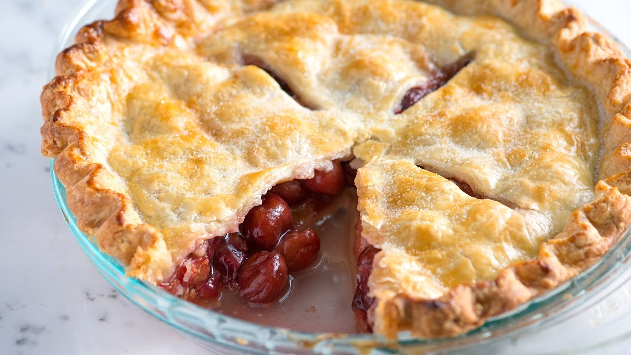 Easy Cherry Pie Recipe - How to Make Homemade Cherry Pie - YouTube