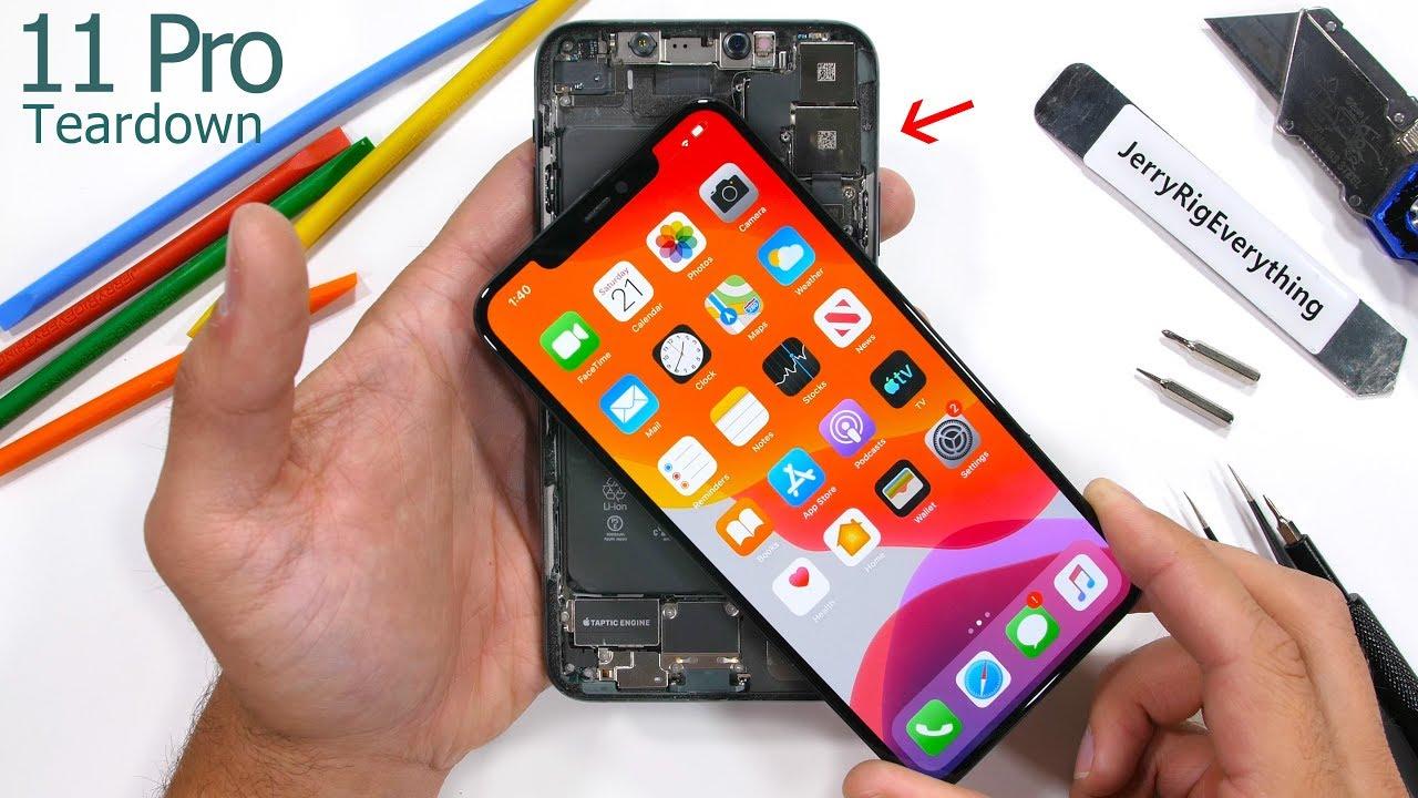 Iphone 11 Pro Max Teardown Tiny Motherboard Big Battery Youtube