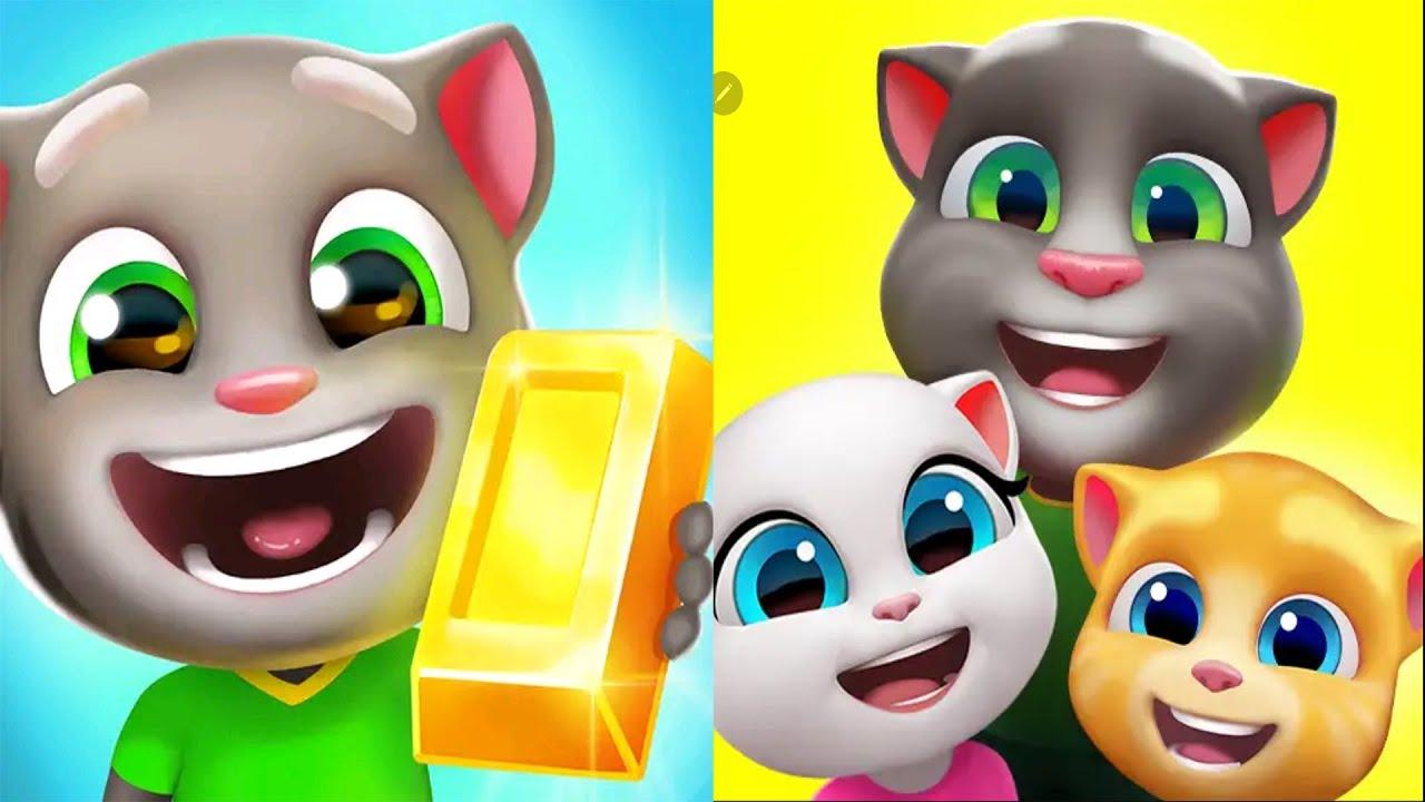 My Talking Tom Friends VS Talking Tom Gold Run | iPad Gameplay