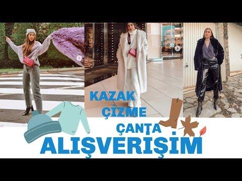 Uygun Fiyatlı Kış Alışverişi Kazak, Çizme, Çanta