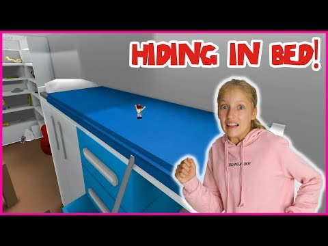 HIDING IN THE BED!