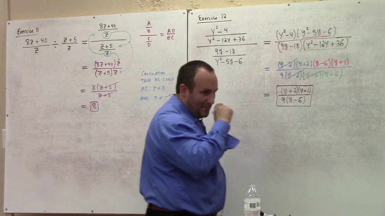 MH 101-04, simplification of rational expressions, solving rational equations, 10-21-2020 part 1