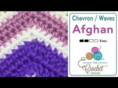 How To Crochet A Wave Afghan Single Crochet Youtube