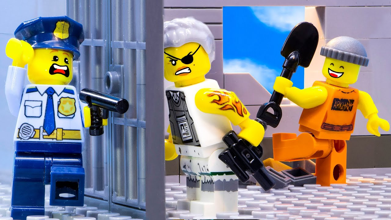 If My THUG MOM Runs a Prison | Lego City Prison Break