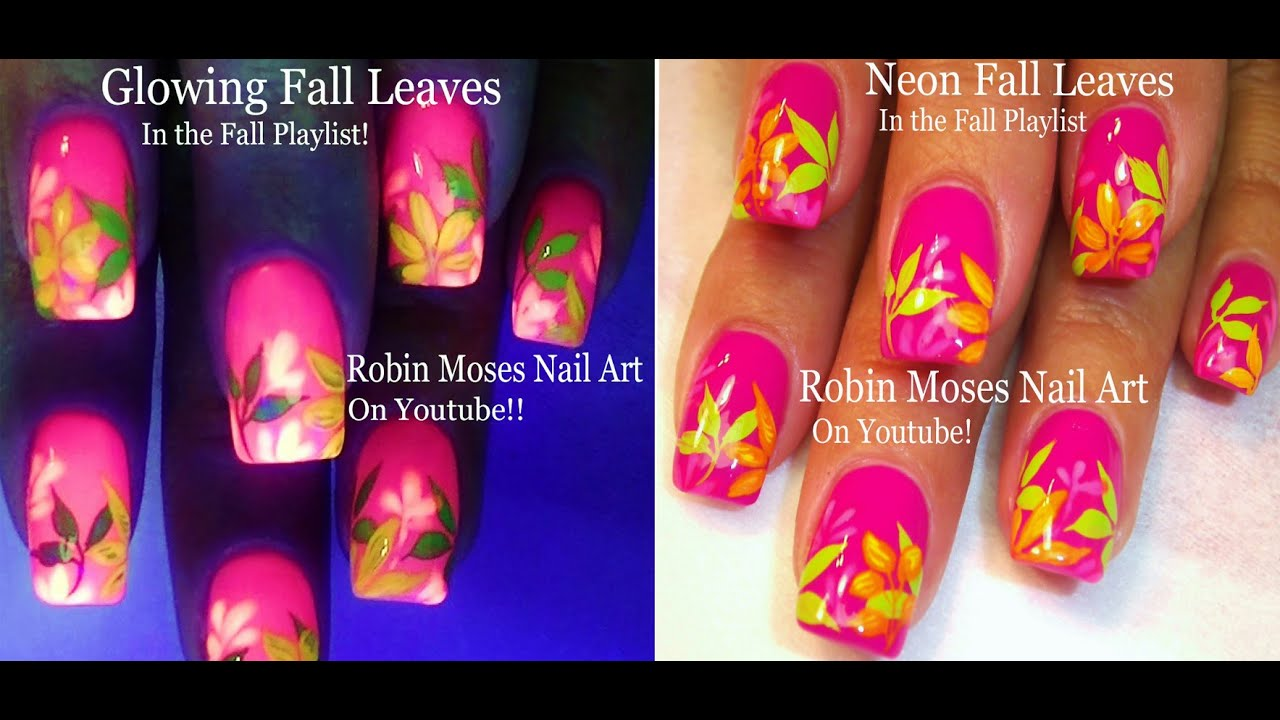 Outstanding How To Paint Fall Leaves On Nails Adornment - Nail Art ...
