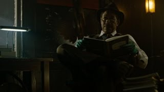 Detective Somerset (Morgan Freeman) reads an excerpt from one of Jo...
