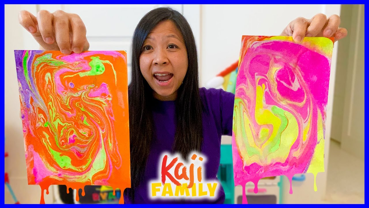 Mommy Tries Marble Art Painting Kit for Kids!!
