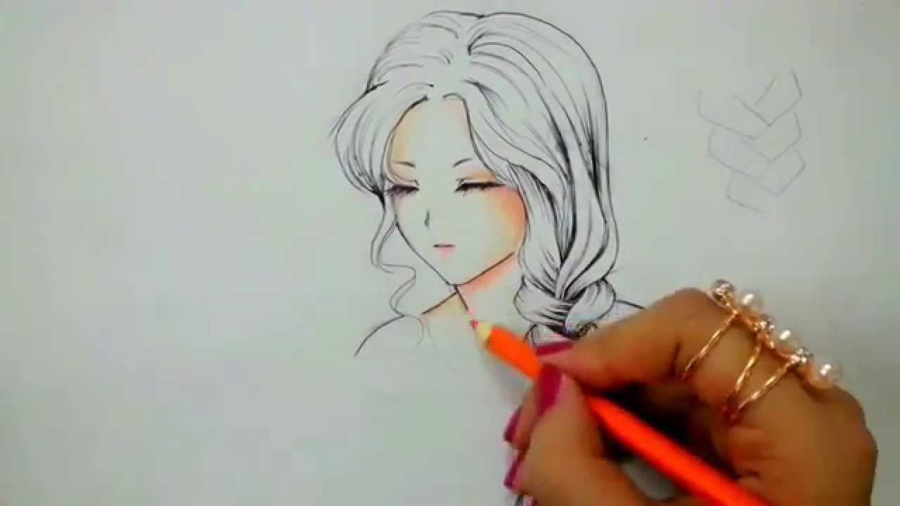 Easy Drawing تعلم رسم انمي بسيط للمبتدئين Youtube