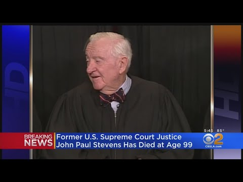 Former SCOTUS Justice John Paul Stevens Dead At 99
