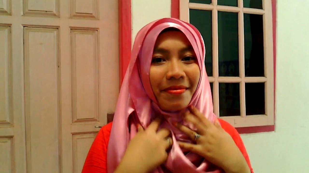Cara Memakai Hijab Pashmina Satin YouTube