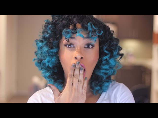 Crochet Braids w/ Teal Ombre Hair & How to Style it tutorial!